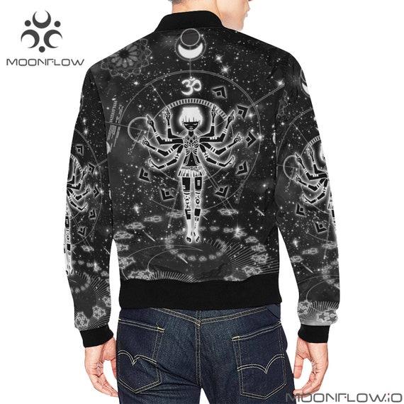Clothes Man Futuristic Music Hippie Clothing Bomber Ravewear clothing Jacket Sacred Burning Festival Geometry Clothing Clothes Men Rave twW6qqSPB
