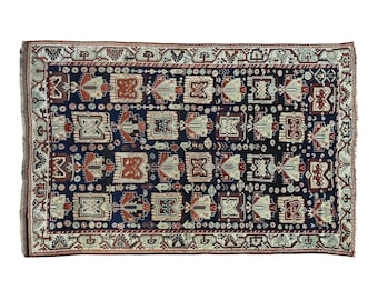 """6'6""""x10' Hand-Knotted Antique Persian Kurdish Full Pile Exc Cond Rug"""
