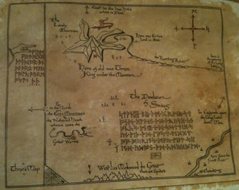 """Map from """"The Hobbit"""", """"Lord of the Rings"""", """"Game of Thrones"""" or """"Narnia"""""""