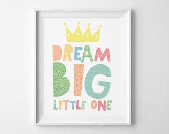 Top seller, kids decor, nursery wall art, nursery decor, Dream big little one, girls room nursery print, top selling item, mini learners