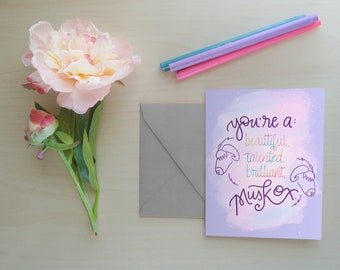 Greeting Card, Galentine's Day, Funny Card, Parks and Rec, TV Show Card, Friend Card, Leslie Knope, Card for Gals, Feminist Card: Musk Ox