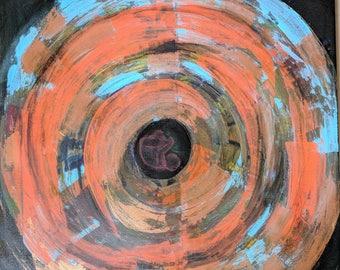 womb, circle, life, acrylic art