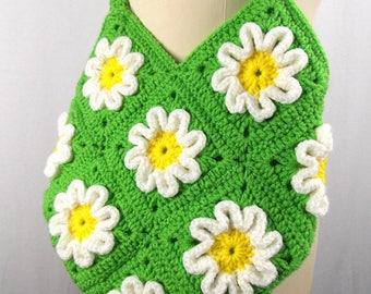 Crochet Daisies Shoulder Bag