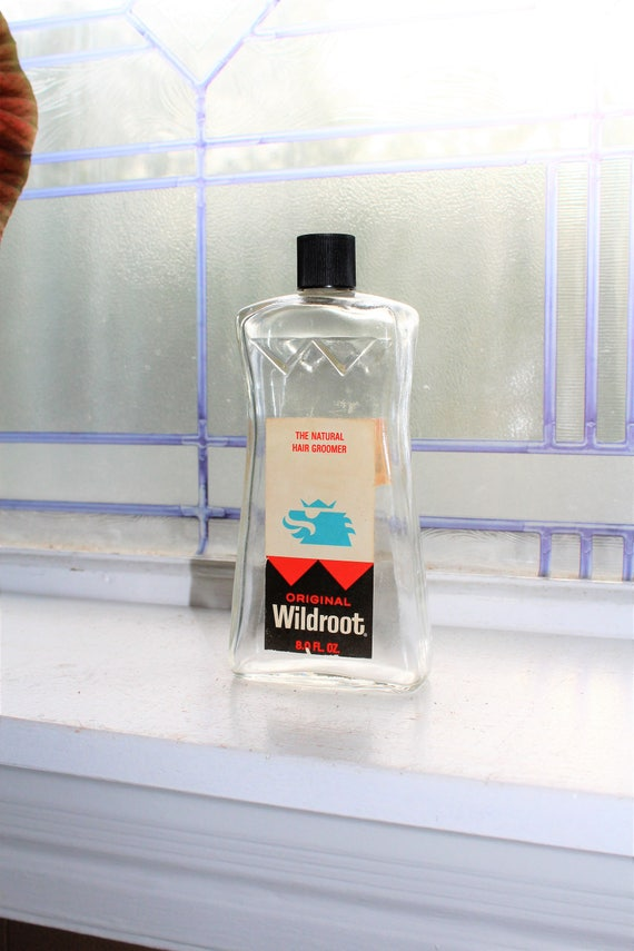 Vintage Wildroot Hair Dressing Bottle Barber Shop