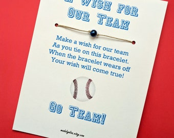 A Sports Team Wish - Game Day Event Favor or Party Favor or Greeting Card Custom Made for You