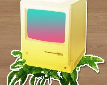 Gold Mac Sticker
