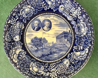 Vintage George snd Martha Washington collector plate