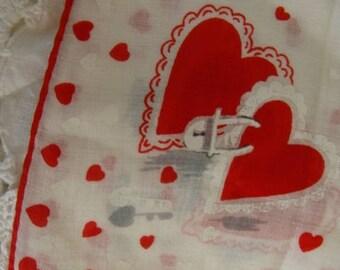 Vintage Valentine Hankie N0 25