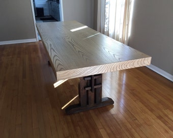 Trestle Base Dining Table