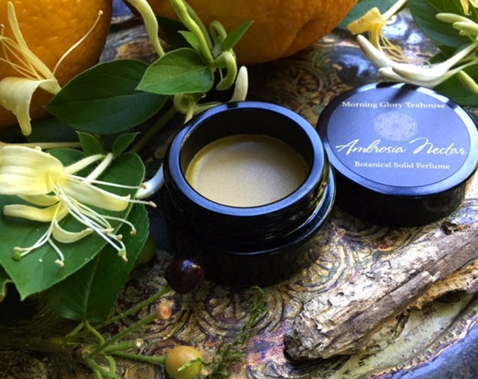 AMBROSIA NECTAR Botanical Solid Perfume ~ green honeyed floral & sweet balsamic wood resembling the intoxicating living honeysuckle vine