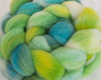 Hand dyed fibre, Charollais, hand dyed top, Handspinning, spindling, fiber, fibre, spinning fiber, felting materials, felting projects, spin