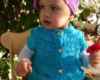 Cotton headband, newborn headband. toddler headwrap, baby headband, top knot headband, knotted headband, summer headwrap, baby headwrap