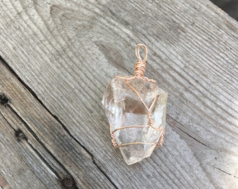 Clear Quartz necklace pendant