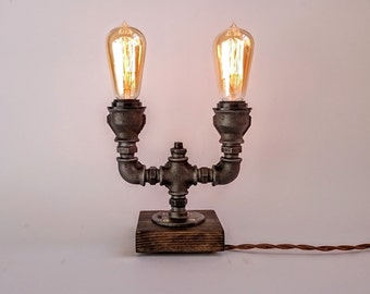 Table Lamp, Edison Lamp, Steampunk Lamp, Edison Table Lamp, Industrial  Table Lamp