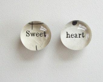 sweet heart- lyrics from vintage sheet music - magnet