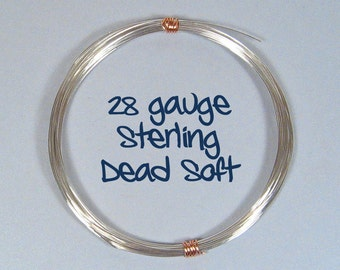 Sterling Silver Wire - 28ga DS - Choose Your Length