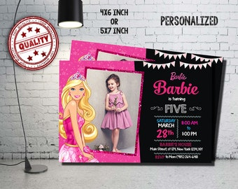 Barbie Invitation, Barbie Birthday, Barbie Party, Barbie Crad, Barbie Printable, Barbie Invitations, Barbie, Girl Invitation, Girl_BF0029