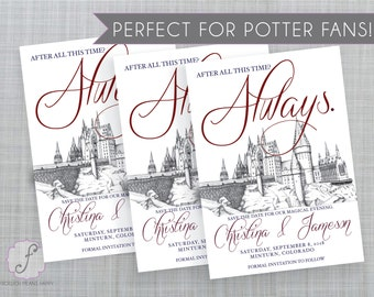 Harry Potter Inspired Printable Save the Date, Hogwarts save the date, diy Harry Potter save the date, printable Hogwarts save the date