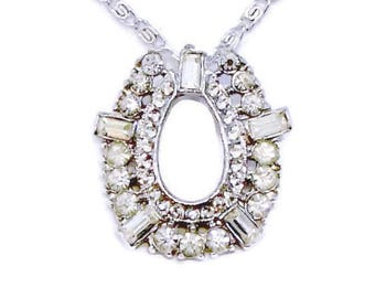 Rhinestone Pendant Necklace, Bridal Jewelry