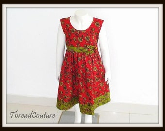 Toddler Dress  Sewing Pattern,  Christmas Dress Sewing Pattern,  Easy Dress  with Headband, Scoop Neck Dress