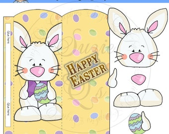 Easter Bunny Candy Bar Slider, 3D - Digital Printable - Immediate Download