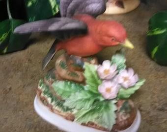 Vintage Andrea Scarlet Tanager Bird Figurine 7705 by Sadek