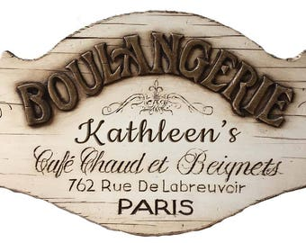 Boulangerie French Wall Decor Personalized Sign