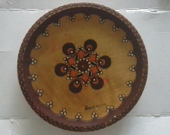 Romanian wooden plate hand made
