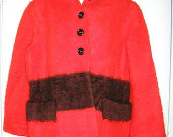 SALE, Vintage 50s, Hudson Bay Point blanket coat, Made in England, by Hudson's Bay Co.,  MINT, size medium