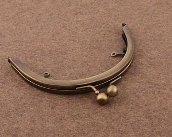 5 1/4  *3 1/4 inch  Antique Bronze Purse Frame Metal Bag Frame Clutch Lock Clasp Bag Frame Arched Handbag Frame