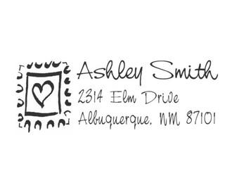 Postage Stamp Custom Address Stamp - HA3