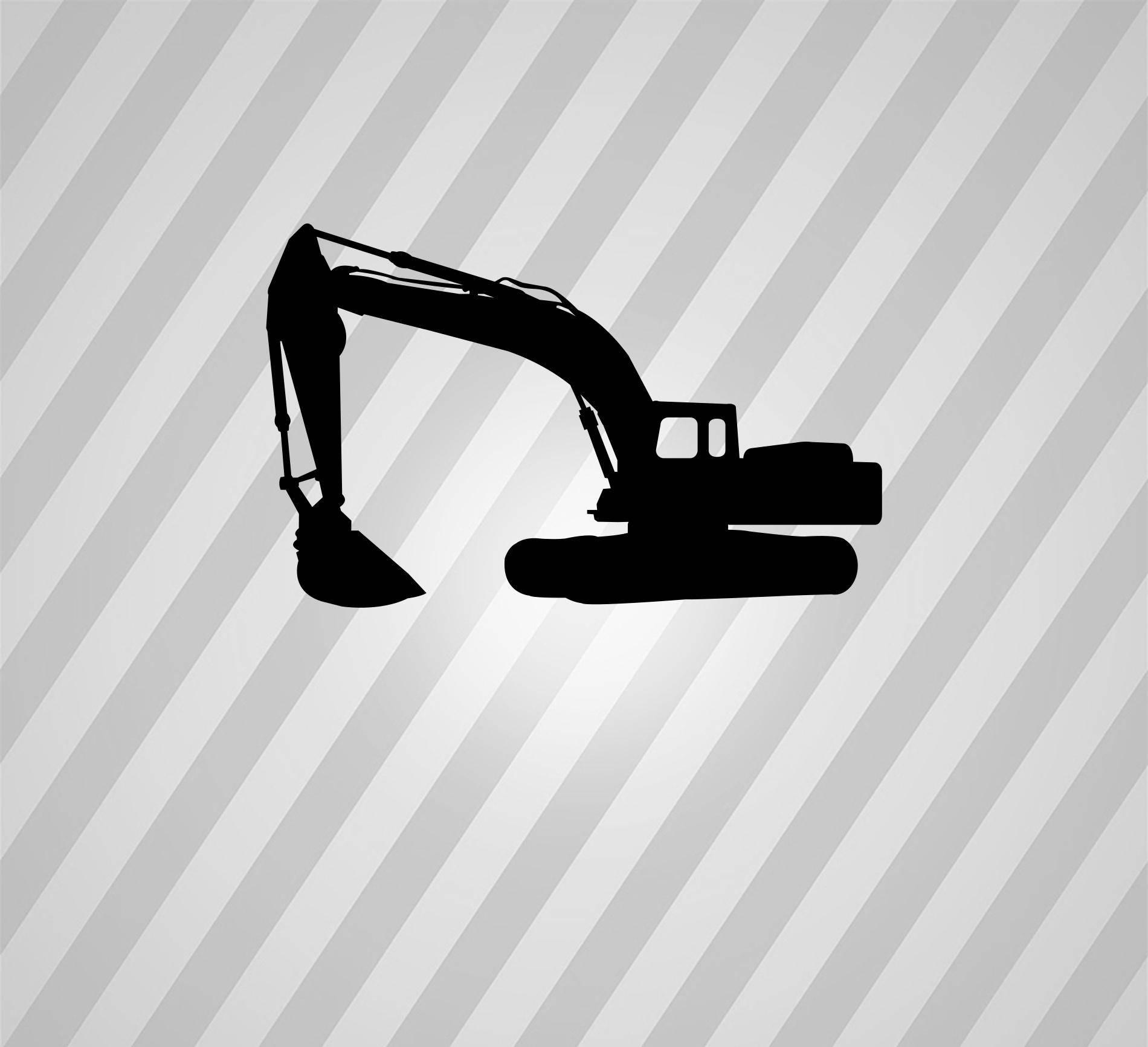 caterpillar excavator Silhouette Svg Dxf Eps Silhouette Rld