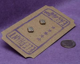 Scrollwork Buttons Post Earrings