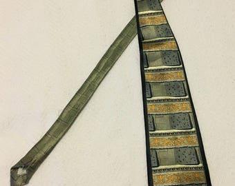 Vintage 1980s Arregani Italian Silk Necktie