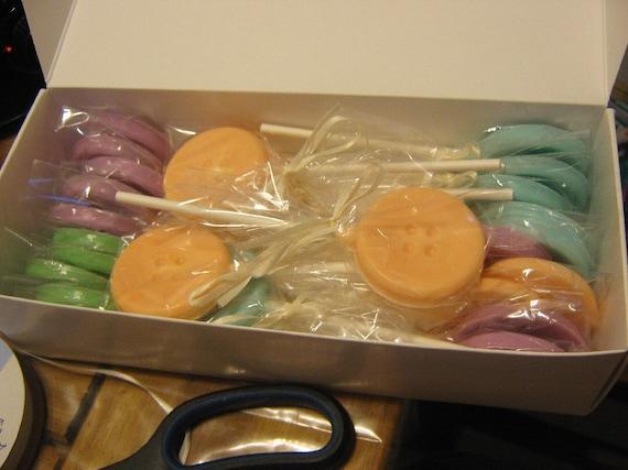 Cute as a Button Lollipops - One dozen