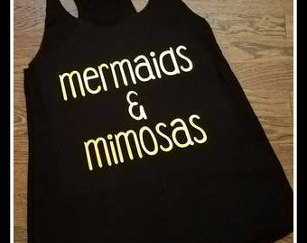 Mermaids and Mimosas Tank Top, Mermaid Tank Top, Mermaid Top, Mimosas Tank Top