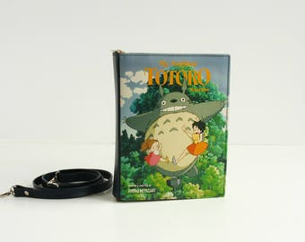 My Neighbor Totoro Leather Book Purse Miyazaki Leather Book Bag