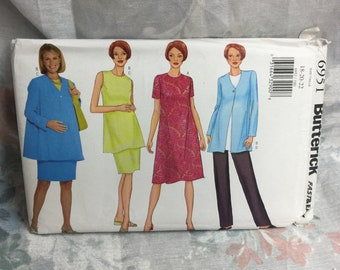 Butterick 6951, plus, Maternity Wardrobe, Dress, Tunic, Skirt, Pants, sewing pattern Uncut, Size 18 20 22