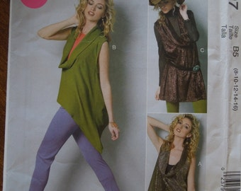 McCalls M6607, sizes vary, misses, womens, UNCUT sewing pattern, craft supplies, pullover tops, tunics