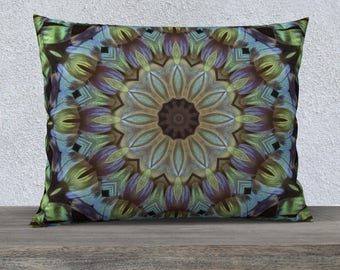 Green Blue Rectangle Pillow Case 26 x 20