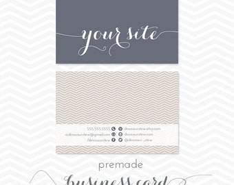 premade business card design - simple chevron in your choice of color - we design, you print