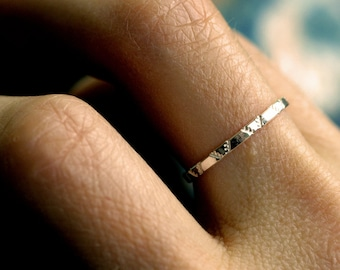 skinny silver band delicate ring sterling silver band simple ring stacking ring chevron ring textured band minimalist ring SPARKLE BAND