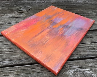 Orange Crush / Abstract Acrylic Painting - 11 in. x 14 in.