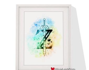 The Legend Of Zelda Link art print Instant Download