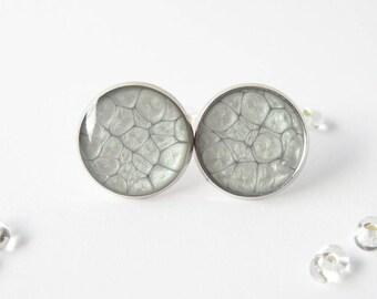 Simple Stud Earrings gray argentees_pg011