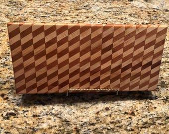 Wood Cutting Board, Maple and Cherry Wooden Lightening Bolt Design