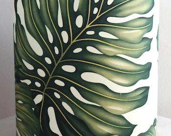 monstera leaf medium lampshade