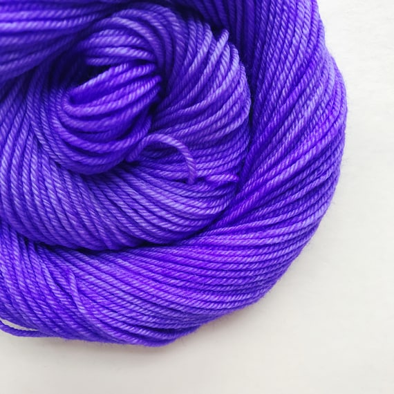 ULTRA VIOLET hand dyed yarn