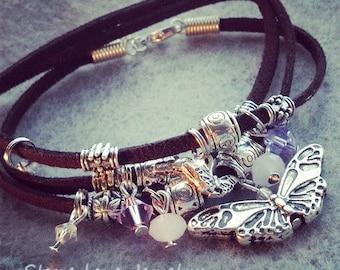 Monarch Butterfly Wrap Bracelet /Necklace