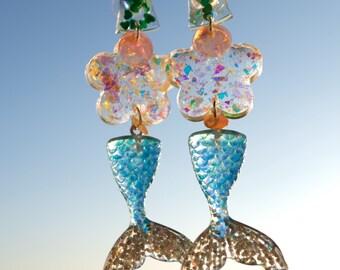 Mermaid-handmade drop earrings 4